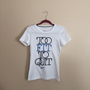 Nike Too Fit Too Quit T-shirt Slim Fit